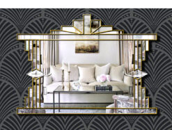 melody art deco wall mirror