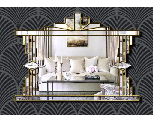 melody art deco wall mirror