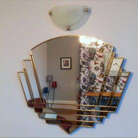 phillipe art deco wall mirror