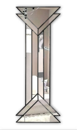remus in black art deco wall mirror