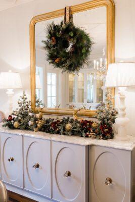 Wreath Mirror
