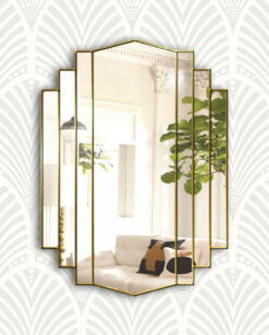 Artemis gold art deco wall mirror
