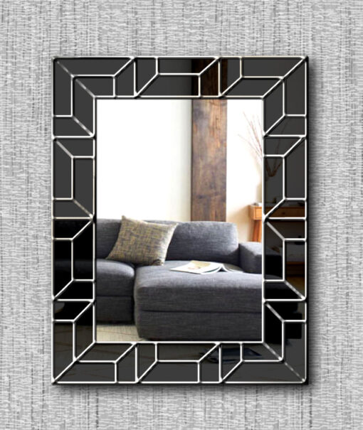atticus art deco wall mirror