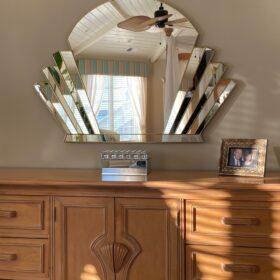 venus gold testimonial art deco wall mirror