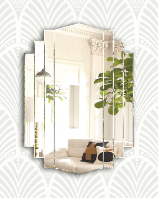 Artemis dc art deco wall mirror