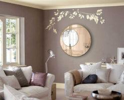 Lloyd bronze with gold trim room setting 2 art deco wall mirror