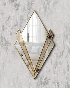 Zante gold trim bronze mirror art deco wall mirror