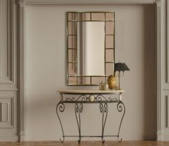 Bebedict bronze room setting goldtrim wall mirror