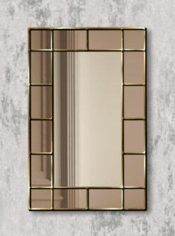 Benedict gold trim bronze mirror