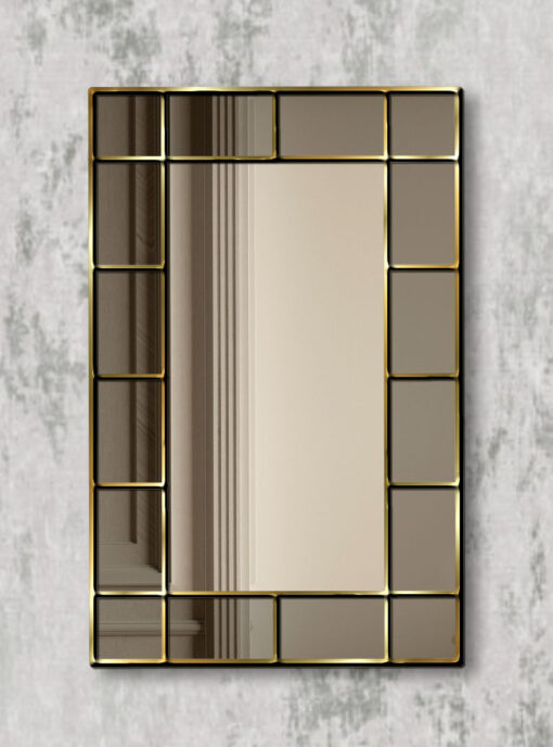Benedict gold trim smoked mirror