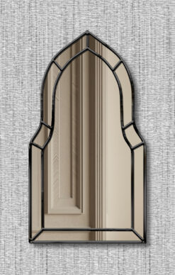 Casablanca black trim art deco classic wall mirror