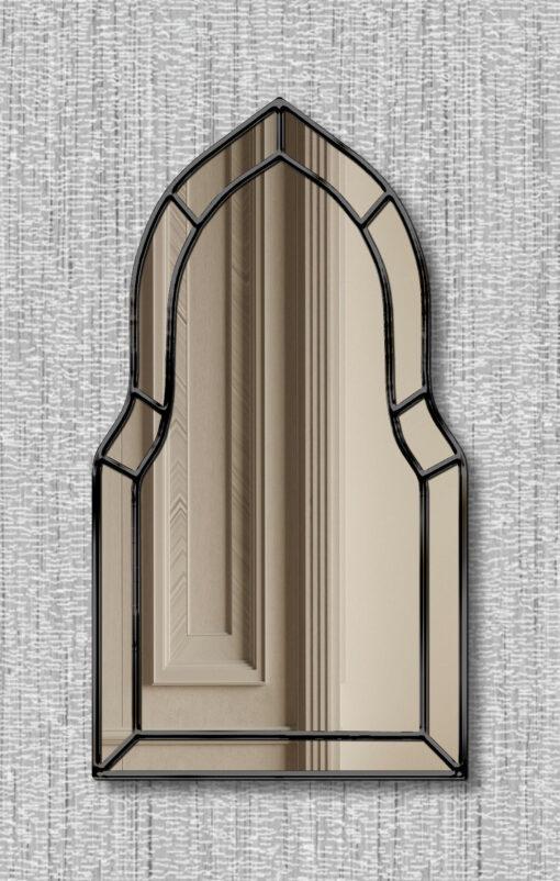 Casablanca black trim art deco classic wall mirror