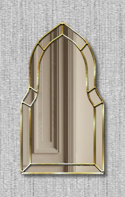 Casablanca gold trim art deco classic wall mirror