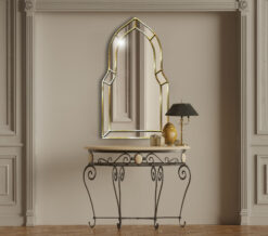 Casablanca silver room setting art deco classic wall mirror