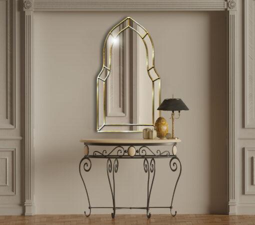 Casablanca silver room setting art deco classic wall mirror