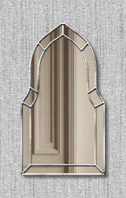 Casablanca silver trim art deco classic wall mirror
