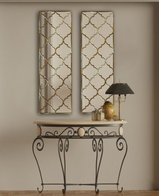 Marakesh cropped hallway wall mirror