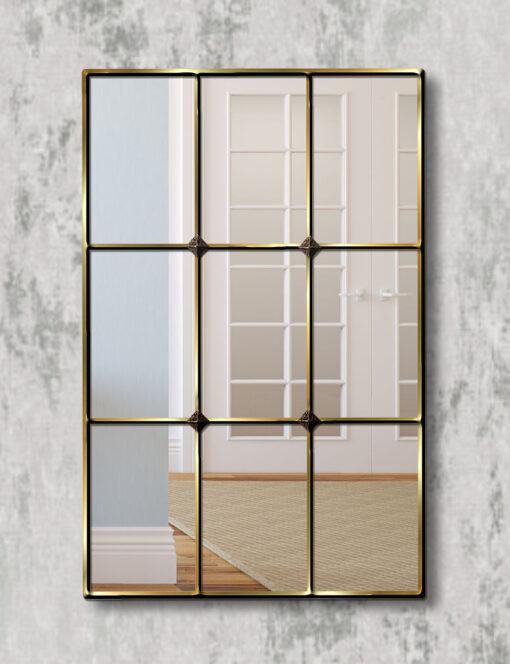 Mirabel gold trim window mirror