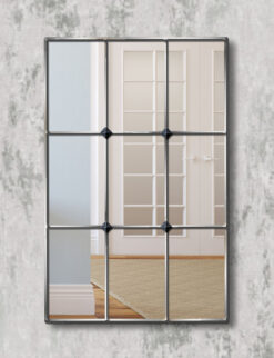 Mirabel silver trim window mirror