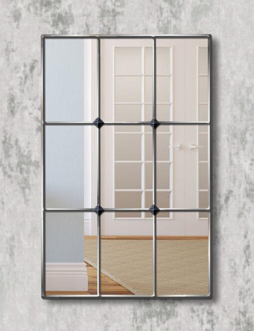 Mirabel silver trim window mirror