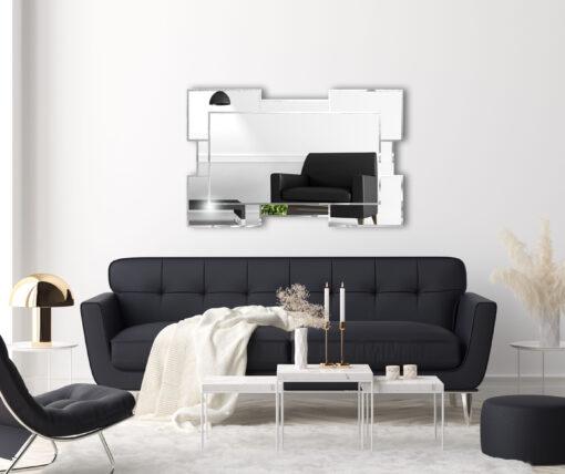 Tulsa modern contemporaty room setting 2 wall mirror