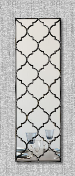 marrakesh moroccan classic wall mirror with a black trim