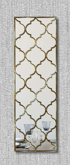 marrakesh moroccan classic wall mirror with a gold trim
