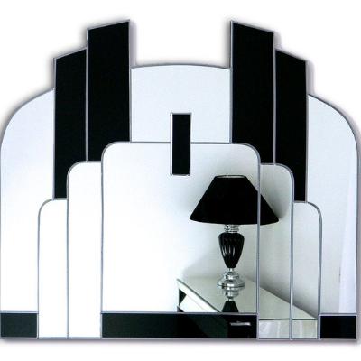 Savoy Mirror in black